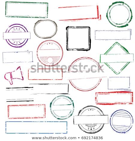 vetor · carimbo · vermelho · branco · assinar · carta - foto stock © 5xinc