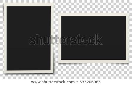 Immediato photo frame trasparente fotocamera ombre eps Foto d'archivio © limbi007