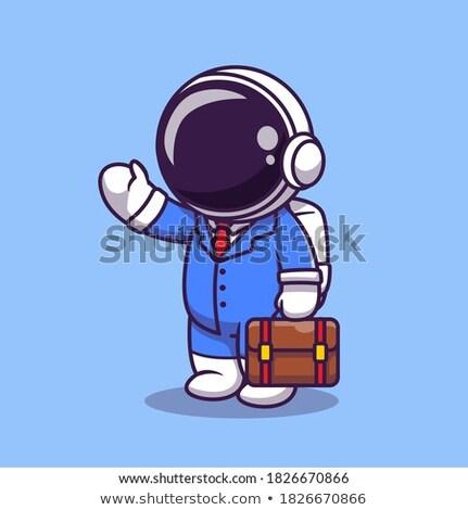 üzletember űr üzlet űrhajós főnök űrhajós Stock fotó © popaukropa