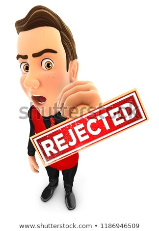 3d seller rejected stamp stock photo © 3dmask