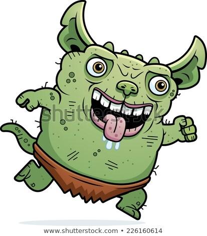 Feo ejecutando Cartoon ilustración gráfico sucia Foto stock © cthoman