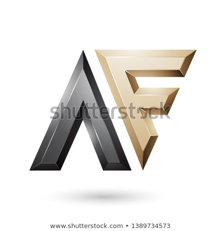 Black and Beige Glossy Dual Letters of Letters A and F Vector Il Stock photo © cidepix