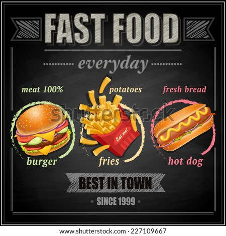 Fast food hot dog posters ingesteld worst salade Stockfoto © robuart