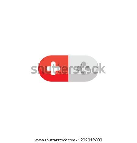 Rojo blanco palanca de mando juego consolar píldora Foto stock © vector1st