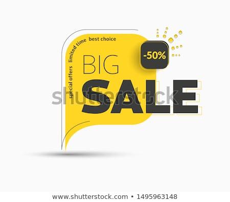 Akció nagy vásár szett plakátok idő Stock fotó © robuart