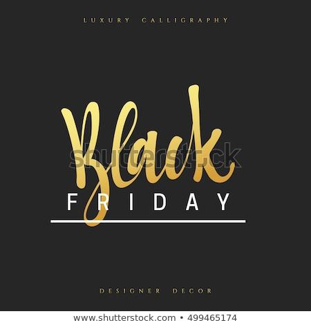 Black friday venda promo adesivos publicidade Foto stock © robuart
