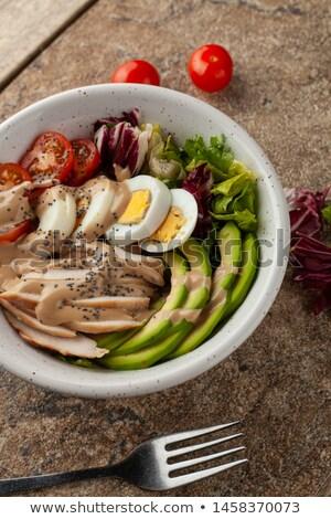 アメリカン · サラダ · 鶏 · 卵 · トマト · 料理 - ストックフォト © furmanphoto
