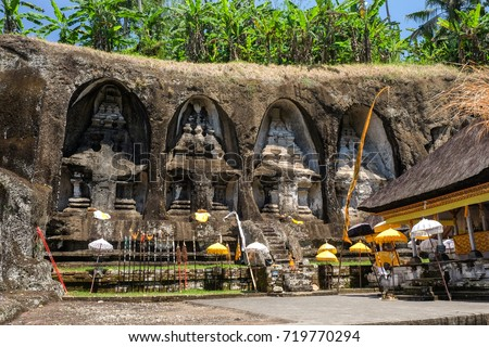 Antigo pedra templo real bali Indonésia Foto stock © galitskaya