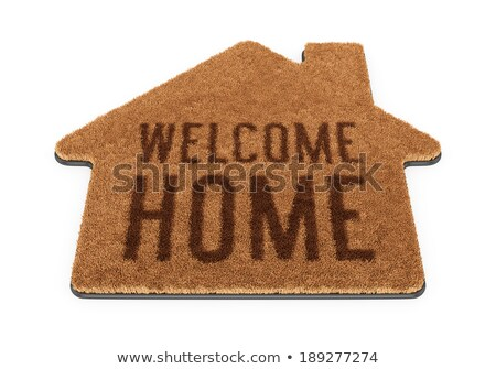 Brown coir doormat with text WELCOME HOME 3D Stock photo © djmilic