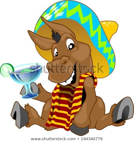 Happy Cinco de Mayo banner of mariachi man Stock photo © cienpies