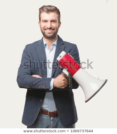 幸せ 小さな 成功した スピーカー エレガントな スーツ ストックフォト © pressmaster
