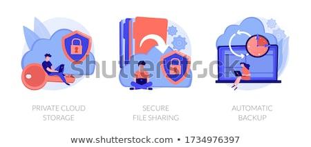 Web hosting vektör metafor Stok fotoğraf © RAStudio