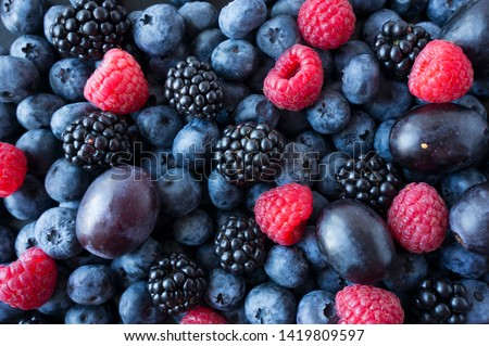 Fruits and berries summer background Stock photo © furmanphoto