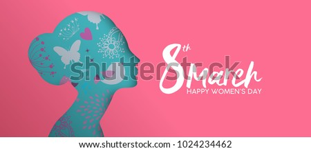 Women's day card of pink flowers and female sign Stock photo © cienpies