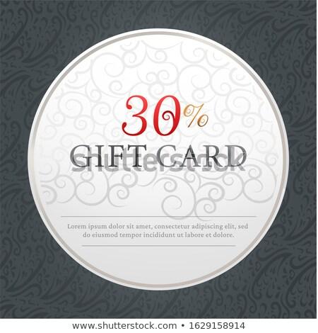 Gift card 30 procent af aanwezig ornamenten Stockfoto © robuart
