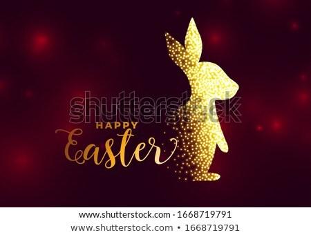Tavşan iyi paskalyalar bahar mutlu dizayn tavşan Stok fotoğraf © SArts