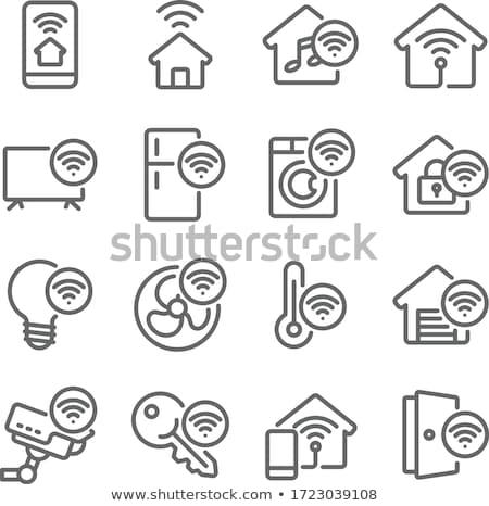 Garage réseau icône vecteur illustration Photo stock © pikepicture