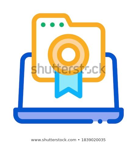 Laptop scherm screenshot icon vector schets Stockfoto © pikepicture