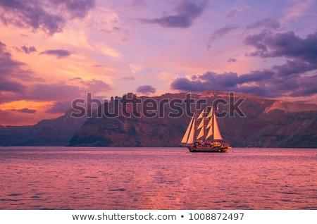 Oceano nascer do sol Grécia detalhes natureza paisagem Foto stock © vladacanon