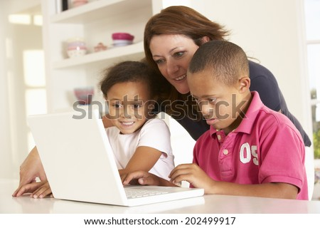Boy learning computer skills Stock photo © photography33