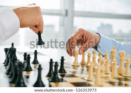 Hand and chess-man Stock photo © pzaxe