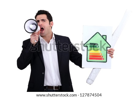 Architect shouting about his energy rating stock photo © photography33