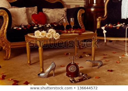 великолепный номер в отеле подготовленный празднования Валентин два Сток-фото © rosipro