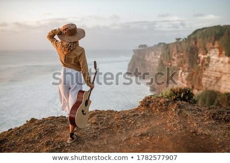 piernas · guitarra · estudio · música · fondo · hombres - foto stock © sumners