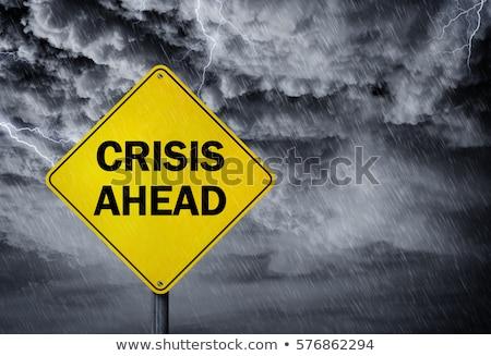 кризис впереди предупреждение Легкая атлетика погода Сток-фото © stevanovicigor