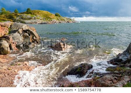 Rocky seashore in Helsinki Finland Stock photo © ElinaManninen