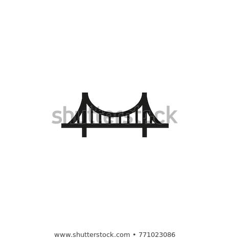 vektör · ikon · köprü · inşaat - stok fotoğraf © zzve
