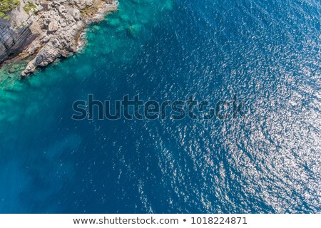 deep blue sea with transparent water and beautiful adriatic beac stock photo © anshar