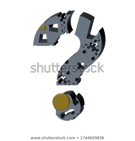 question sign of silver grey gears Stock photo © marinini