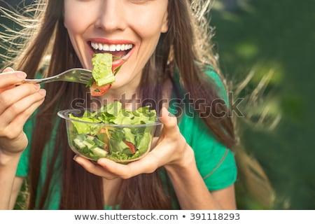 Gezondheid eten wonen portret vrouw Stockfoto © jayfish