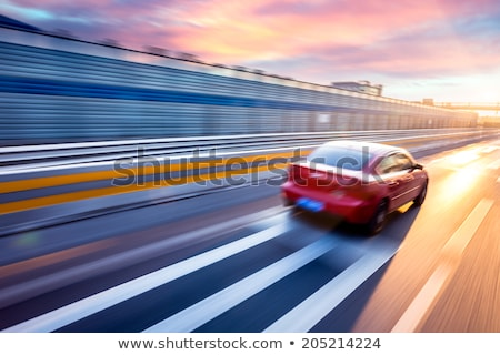 Highway with car motion blur at dusk Stock photo © Geribody