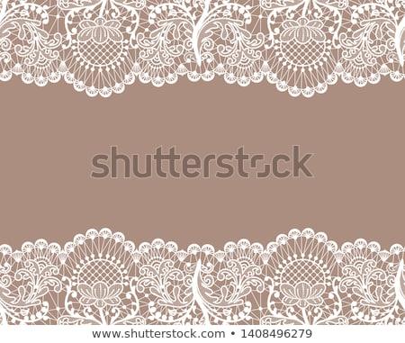 kahverengi · dantel · güzel · kadın · elbise · kız - stok fotoğraf © disorderly