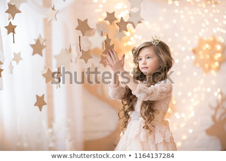 beautiful princess with christmas decoration stock photo © nejron