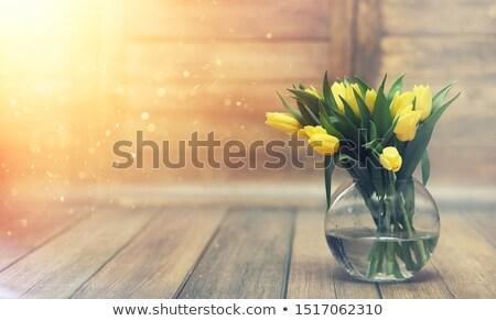 macro - flowers - yellow tulip interior Stock photo © dgilder