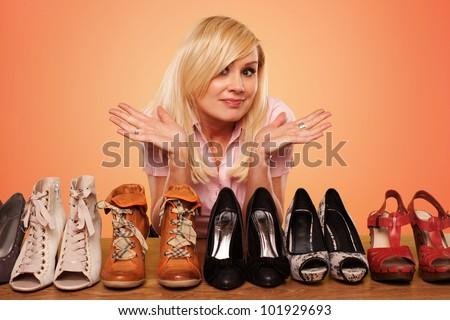 cipők · ruházat · butik · elegáns · divatos · vásárlás - stock fotó © nejron