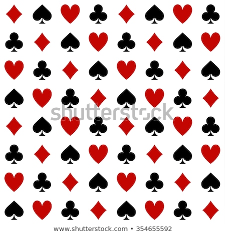Briljant poker kaart harten geld mode Stockfoto © carodi