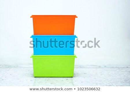 Fehér raktár doboz karton izolált papír Stock fotó © dezign56