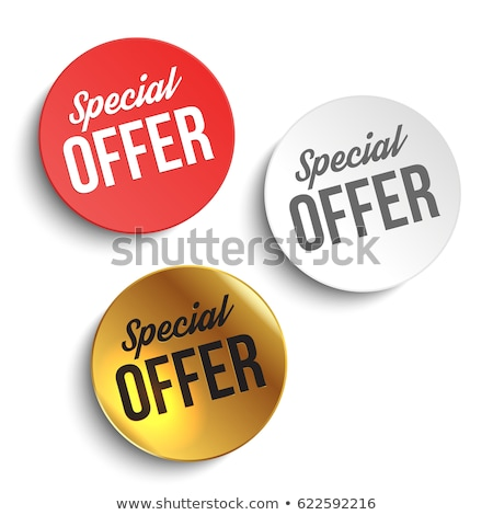 Special Offer Red Vector Icon Button Stock photo © rizwanali3d