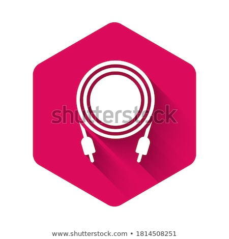 plug sign pink vector button icon stock photo © rizwanali3d