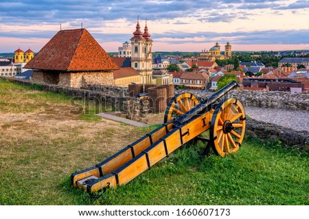 View of fortress in the city Eger, Hungary Stock photo © Zhukow