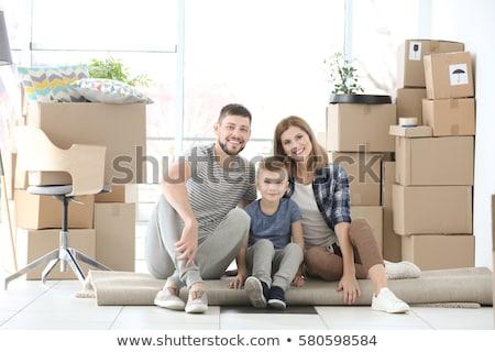 семьи · сидеть · полу · подушкой · ребенка · комнату - Сток-фото © Paha_L