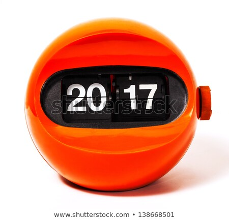 Black Digital Numbers 2017 Year Time Stock photo © sippakorn