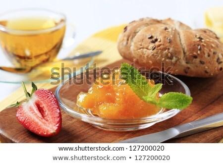 Egész gabona zsemle zsemle étel gyümölcs Stock fotó © Digifoodstock