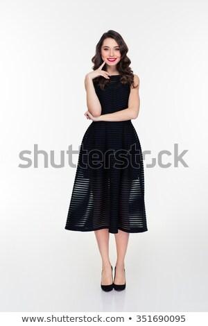 zwarte · jurk · schoenen · paar · mode · ontwerp · achtergrond - stockfoto © deandrobot