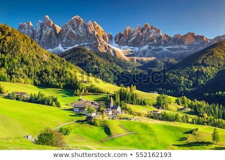 пейзаж Альпы Италия живописный деревне небе Сток-фото © OleksandrO