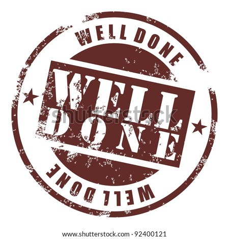 Well done rubber stamp Stock photo © IMaster